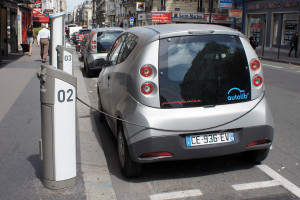Autolib' Bluecar carsharing service, Paris, France