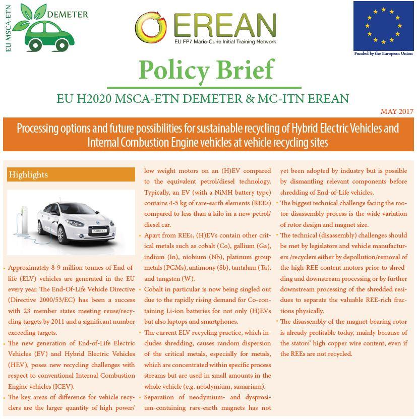 DEMETER & EREAN Policy Brief